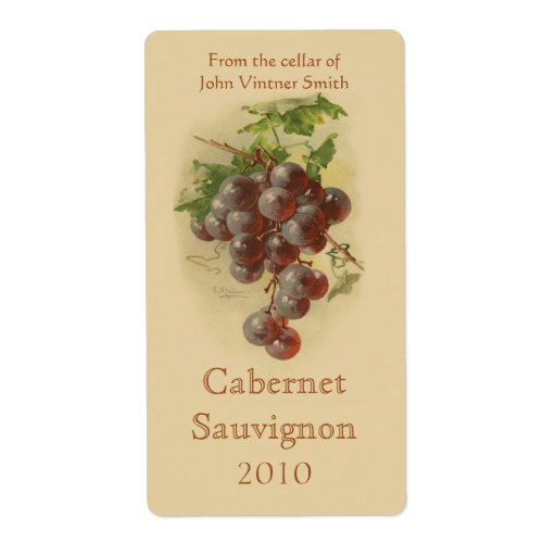 Étiquette de bouteille de vin étiquette d'expédition