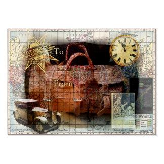 Étiquette de cadeau de voyage de fève carte de visite