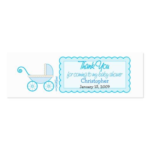tiquette de faveur de baby shower de poussette de carte de visite