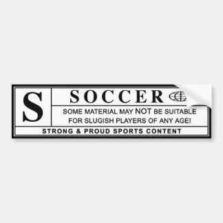 étiquette de mise en garde du football autocollant de voiture