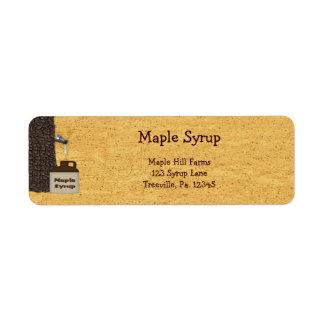 Étiquette de produit d'étiquette de sirop d'érable
