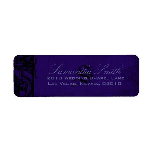Étiquette de retour Romance gothique Étiquettes D'adresse Retour