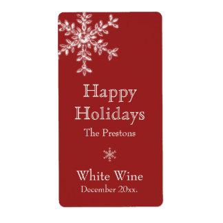 Étiquette de vin de charme de vacances (rouge)