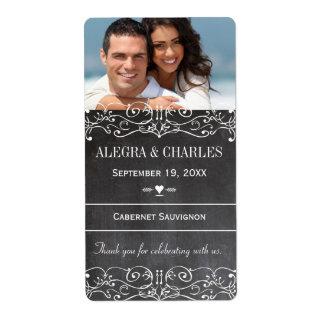 Étiquette de vin de mariage de tableau