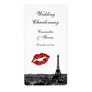 Étiquette de vin du baiser #1 BW d'horizon de