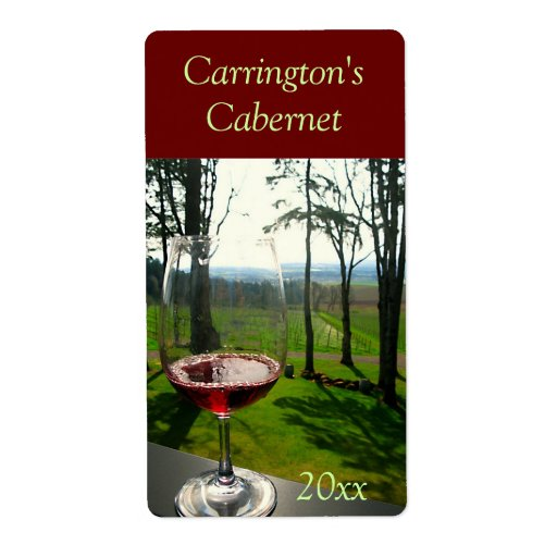 Étiquette de vin en verre de vin étiquette d'expédition