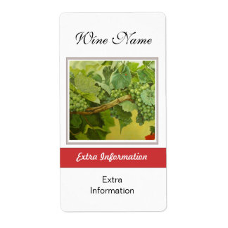 Étiquette de vin rouge