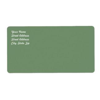 Étiquette d'expédition de vert sauge