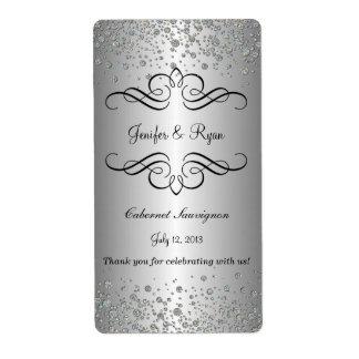 Étiquette élégant de vin de mariage