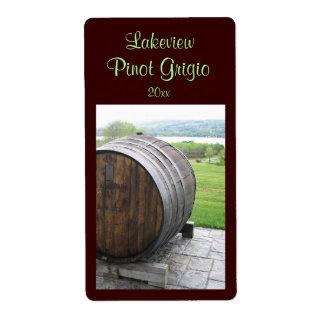 Étiquette fait maison de vin de tonneau de vin étiquette d'expédition