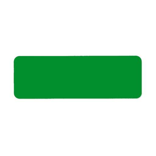 Étiquette fait sur commande d'herbe de vert de bla étiquettes d'adresse retour