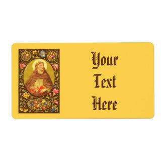 Étiquette large #3c de St Dominic de Guzman (P.M.