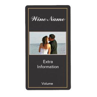 Étiquette noir classique de vin étiquettes d'expédition