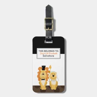 Étiquette personnalisable de bagage de couples de étiquettes de bagage