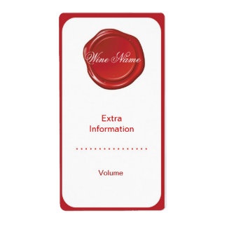 Étiquette rouge de vin de joint étiquettes d'expédition