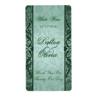Étiquette sage de vin de mariage de brocard heureu