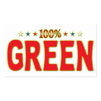 Étiquette verte d'étoile modèle de carte de visite