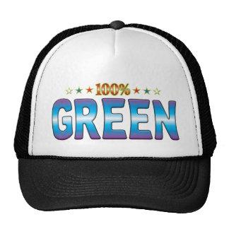 Étiquette verte v2 d'étoile casquette de camionneur