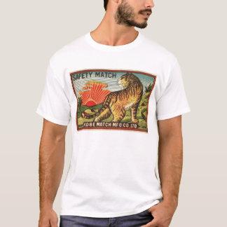 Étiquette vintage de match de sécurité - tigre t-shirt