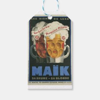 Étiquettes-cadeau affiche française originale 1929 d'art déco de