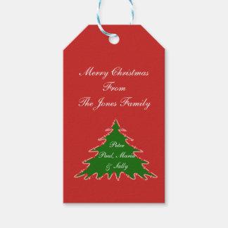Étiquettes-cadeau Personnalisez l'étiquette d'arbre de Noël