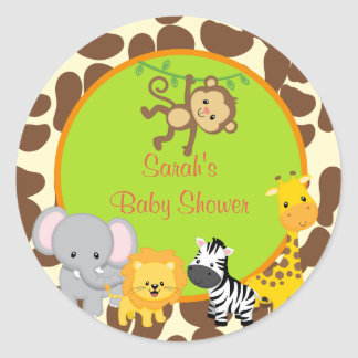 Étiquettes d'autocollants de faveur de baby shower sticker rond