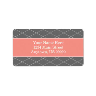 Étiquettes de adresse d'arrière - plan de diamant  étiquettes d'adresse