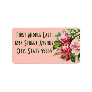 Étiquettes de adresse de bouquet étiquette d'adresse