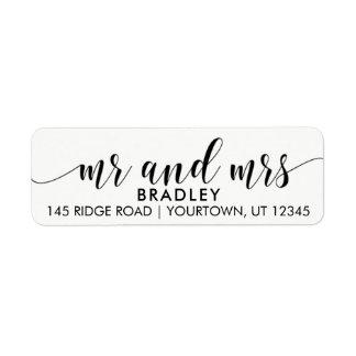 Étiquettes de adresse de M. et de Mme Return