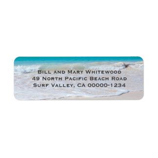 Étiquettes de adresse de retour de sable de l eau étiquette d'adresse retour