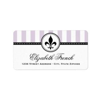 Étiquettes de adresse de retour | French Fleur de  Étiquettes D'adresse