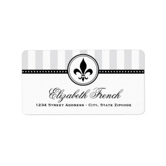 Étiquettes de adresse de retour | French Fleur de  Étiquette D'adresse