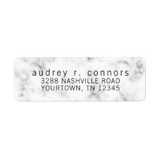Étiquettes de adresse de retour - marbre noir et