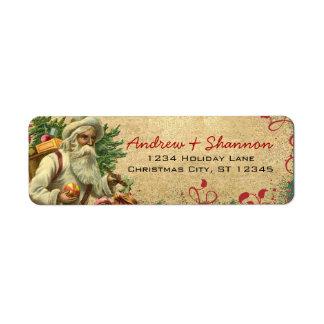 Étiquettes de adresse de retour vintages étiquettes d'adresse retour