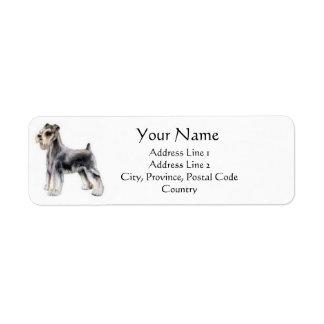 Étiquettes de adresse de Schnauzer miniature Étiquette D'adresse Retour