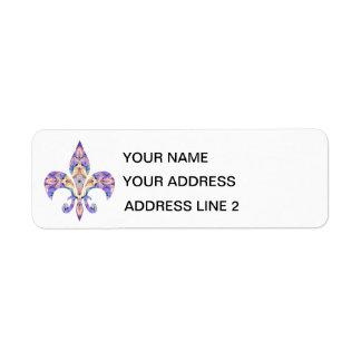 étiquettes de adresse Fleur-De-lis Étiquette D'adresse Retour
