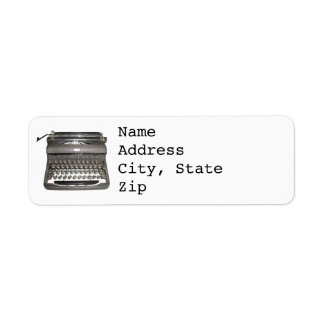 Étiquettes de adresse manuels de machine à écrire étiquettes d'adresse retour