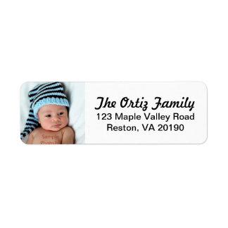 Étiquettes de adresse personnalisés de photo étiquette d'adresse retour