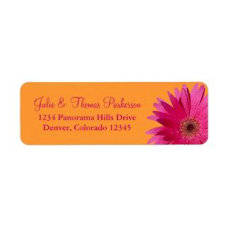 Étiquettes de adresse roses de retour de mariage d étiquettes d'adresse retour