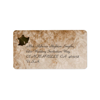 Étiquettes de adresse vintages de Brown et de Étiquette D'adresse