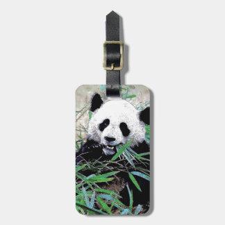 Étiquettes de bagage de panda