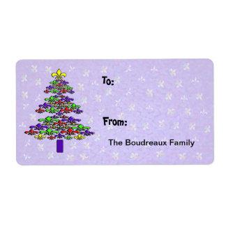 Étiquettes de cadeau d'arbre de Noël de Colorful F Étiquette D'expédition