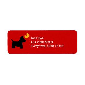 Étiquettes de chien de Scottie à customiser