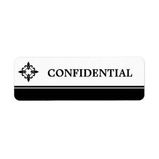 Étiquettes de Fleur de Lis Confidential Étiquettes D'adresse Retour