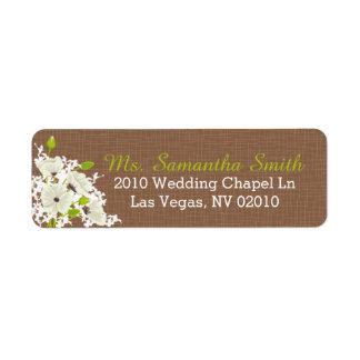 Étiquettes de mariage de bouquet de pavot cultivé étiquette d'adresse retour