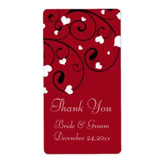 Étiquettes de mariage de Saint-Valentin de coeurs
