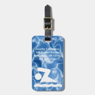 Étiquettes de natation de bagage de conception étiquette pour bagages