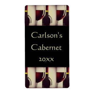 Étiquettes faits maison de vin (verticaux)