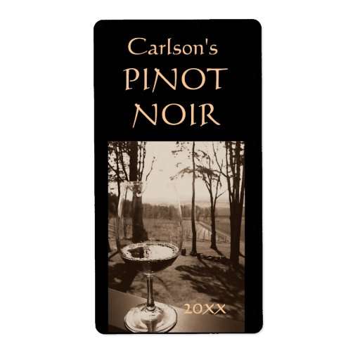 Étiquettes faits maison de vin (verticaux) étiquette d'expédition