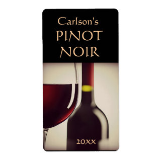 Étiquettes faits maison de vin verticaux étiquette d'expédition